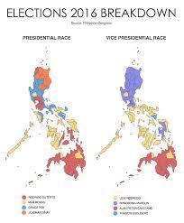 2016 Senate Election Map by Rody Leni Won Thanks To U0027promdi U0027 Appeal U0027laylayan Ng Lipunan