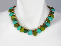 turquoise necklace designs images Stone necklaces erica zap designs jpg