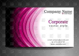 Purple Business Cards Corporate Business Card Template With Purple Waves Vector Image