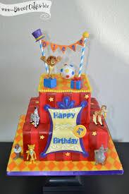madagascar 3 birthday cake carnival circus parade inspirations