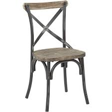 Dining Chairs Rustic Dining Room Metal Chair With Wood Seat Distressed Metal Chairs