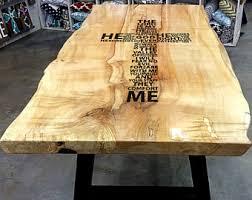 Farmhouse Dining Room Tables Live Edge Table Etsy