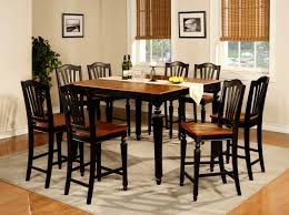 furniture splendid tall dining room table black sets round