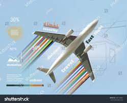 airplanes travel infographics safety statistics flights stock