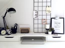 minimalist black and white workspace ikea alex desk inspiration