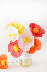 flower friday diy paper poppies tissue paper diy paper and craft