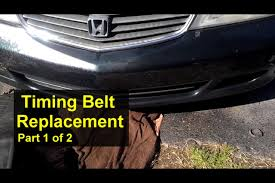 honda odyssey timing belt replacement how to part 1 of 2 votd