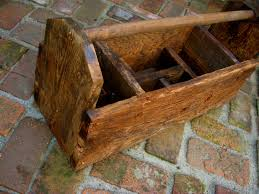 reclaimed barn wood rustic tool caddy container storage