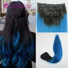 human hair extensions uk clip in human hair extensions ombre blue hair extension