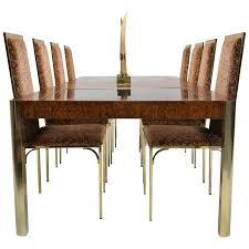 burl wood dining room table century furniture burlwood and brass mid century extending dining