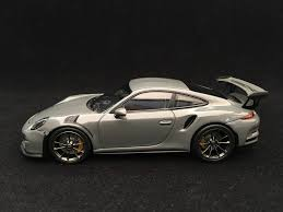 grey porsche 911 porsche 911 gt3 rs type 991 2017 china grey 1 43 minichamps