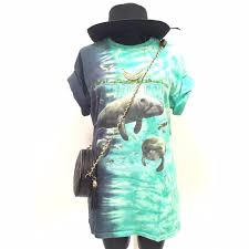 Manatee Halloween Costume Vintage Amazing Vintage Tye Die Manatee Shirt Dress