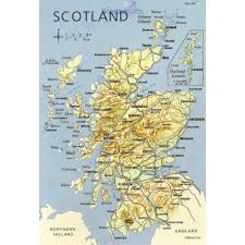map of and scotland map of scotland postcard