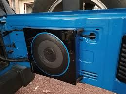 blue jeep 2 door randomly learned inexpensive compact subwoofer and amp for 2 door