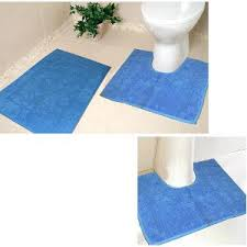 bath mats set handloomwala 3 bath mat set blue bath mats rugs