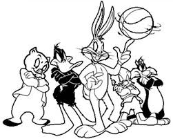 space jam looney tunes basketball team coloring pages space jam