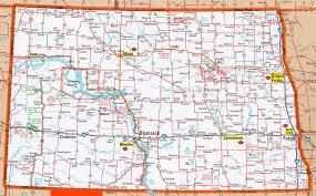 North Dakota travel information images Map of north dakota geology jpg