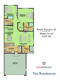 Vaulted Ceiling Open Floor Plans Floor Plans Luther Manor Communities