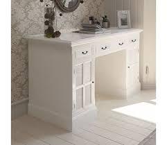 bureau blanc tiroir vidaxl bureau blanc piédestal avec armoires et tiroirs touche