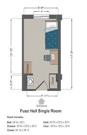 room floor plans fusz hall slu