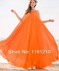 wedding maxi dresses orange summer bridesmaid sundress maxi dress