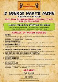 menu for party pacq co