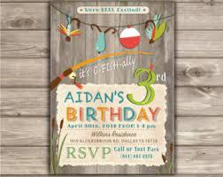 photo gone fishing birthday invitations we u0027re reel excited