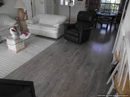 floor glossy grey laminate flooring below white and black