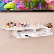 Dvd Bookcase Storage Pop Chic Carved 2 Tier Floating Wall Shelves For Tv Cd Dvd