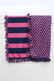 how to make a no sew fleece blanket w out bulky knots recipe