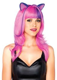 1 pc pink cosmic kitty wig amiclubwear costume online store