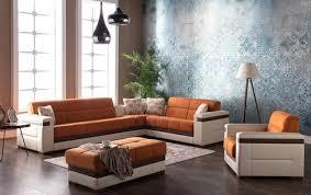 Orange Sofa Bed by Moon Zigana Orange Sectional Sofa By Sunset