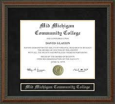 of michigan diploma frame mid michigan community college mmcc diploma frame wordyisms