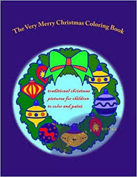 merry christmas coloring book traditional christmas