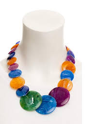 turquoise coloured necklace images A multi coloured disc necklace cherry amore women 39 s accessories png