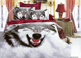 Wolf Bedding Set Arya Siberian Wolf Bedding Snow Treasures And Finds