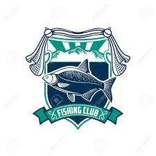 fishing club sign fisherman sport vector badge icon of fish