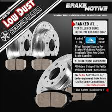 front rear drilled slotted brake rotors u0026 ceramic pads acura