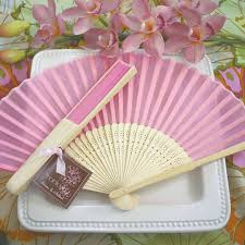 wedding fan favors pink silk fans theme wedding favors wedding favor