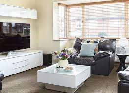 White Furniture In Living Room Living Room With Leather Seats And White Gloss Furniture