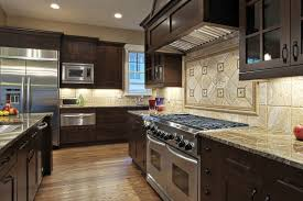 Kitchen Mural Backsplash Kitchen Fantastic Traditional Home Decor Kitchen With Brown