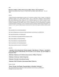 Musician Resume Examples by Pianist Resume Contegri Com