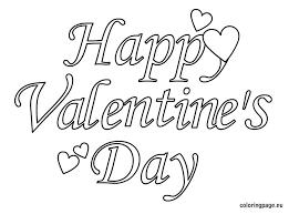 happy valentine u0027s text coloring