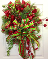 christmas mesh wreaths christmas mesh wreath by williamsfloral on etsy 149 00 picmia
