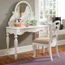 Nifty Mirror by White Wooden Carving Vanity Table With Drawers And Mirror Added By