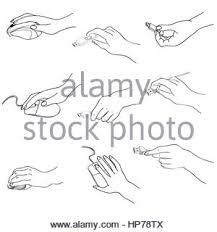 hands set hand holding memory stick computing mouse plug hand