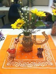 centerpieces for party tables rustic western themed center