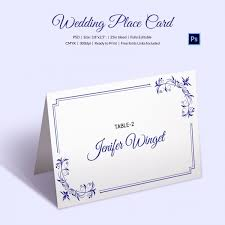 wedding place card template 20 free printable word pdf psd