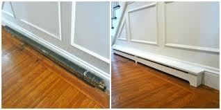 baseboard slant fin fine line 4 in white right wall trim