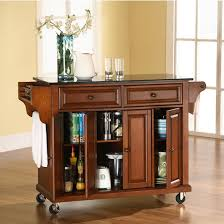 crosley furniture kitchen cart crosley furniture solid black granite top kitchen cart or island in
